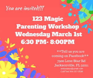 123 Magic -Parenting Workshop Wednesday June 29th