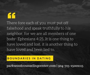 Boundaries- eph 4_25 lied to